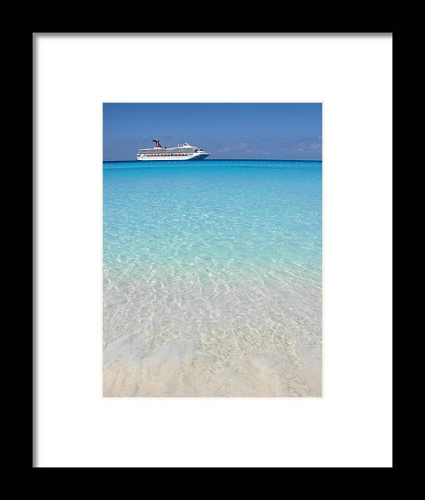 Caribbean Cruise Framed Print featuring the photograph Take Me Back To Half Moon Cay by Margaret Bobb