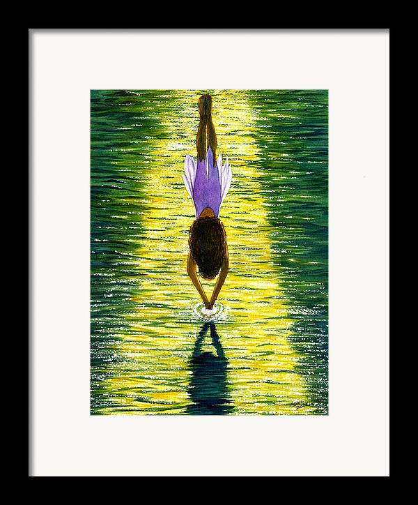 Dive Framed Print featuring the painting Take The Plunge by Catherine G McElroy