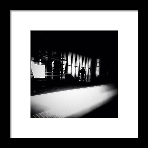 Bnw Framed Print featuring the photograph Take The Road Less Traveled. #commuting by Robbert Ter Weijden