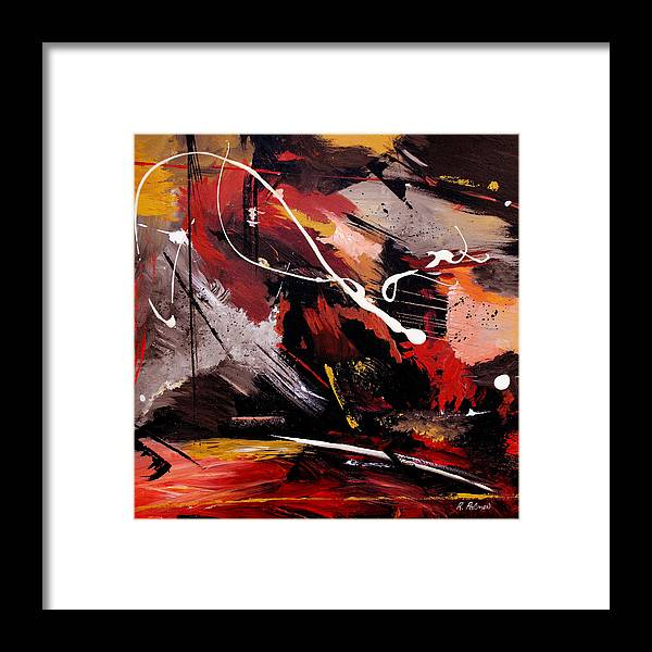 Abstract Framed Print featuring the painting Take To Heart by Ruth Palmer