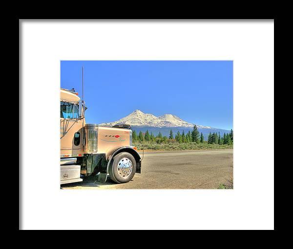 Transportation Framed Print featuring the photograph Taken A Break by Peter Schumacher