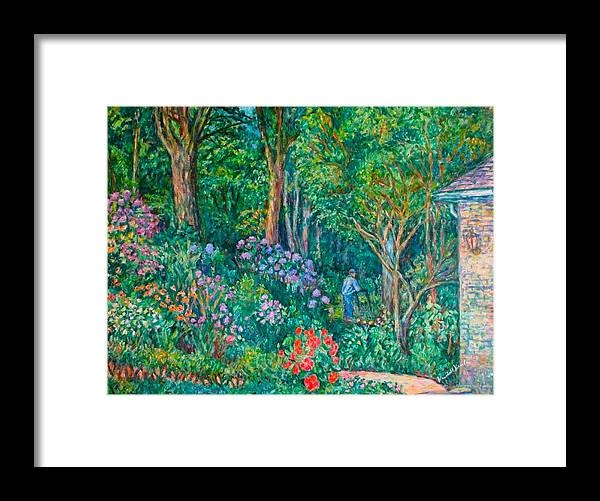Suburban Paintings Framed Print featuring the painting Taking a Break by Kendall Kessler