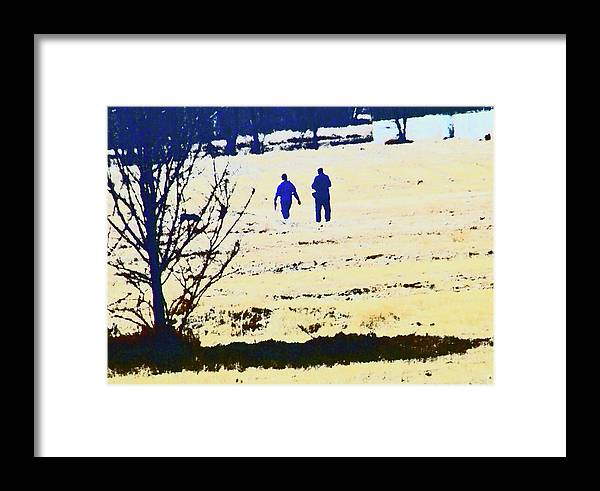 Abstract Framed Print featuring the photograph Taking A Walk by Lenore Senior
