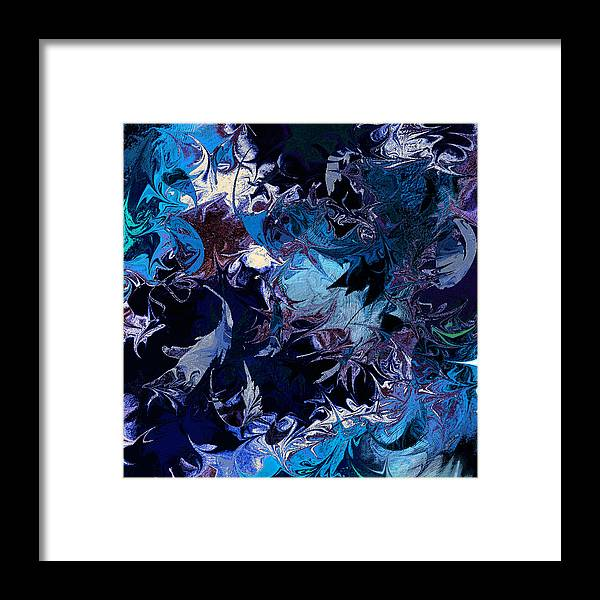 Abstract Framed Print featuring the digital art Tales In A Moonlit Wood by Rachel Christine Nowicki