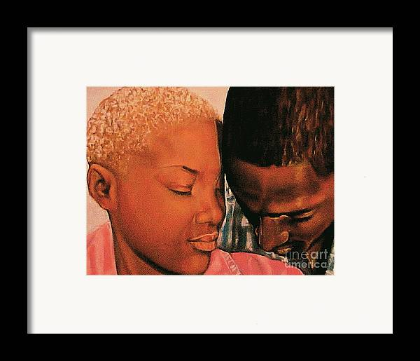 Talk To Me Baby Framed Print featuring the pastel Talk To Me Baby II by Curtis James