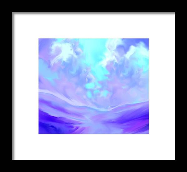 God Framed Print featuring the painting Talking With God Iv by Anne Hamilton