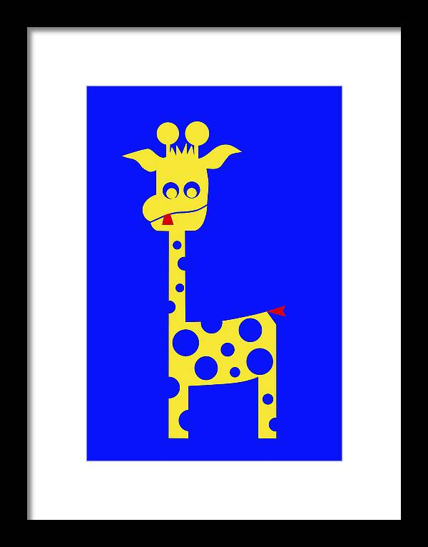 Tall Charlie Framed Print featuring the digital art Tall Charlie by Asbjorn Lonvig
