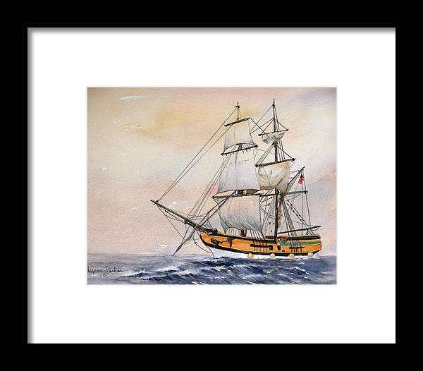 Lady Washington Framed Print featuring the painting Tall Masted Ship by Lynne Parker
