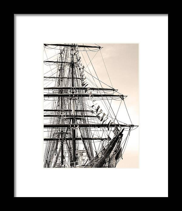 Cape Fear River Framed Print featuring the photograph Tall Ship by Paul Boroznoff