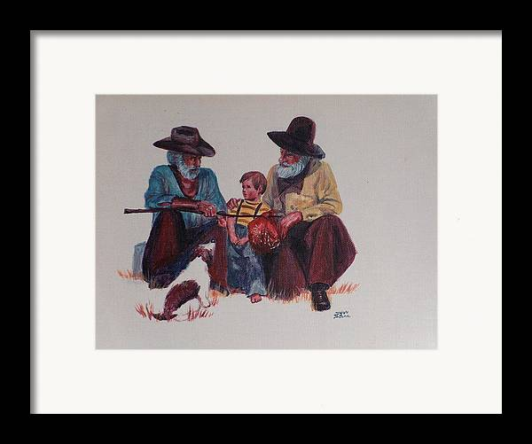 Cowboy Framed Print featuring the painting Tall Tails by Sylvia Stone