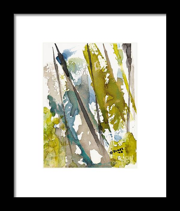 Forest Framed Print featuring the painting Tall Timber by Susan Kubes