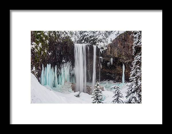 Mt. Hood Framed Print featuring the photograph Tamanawas Falls 1 by Patricia Babbitt
