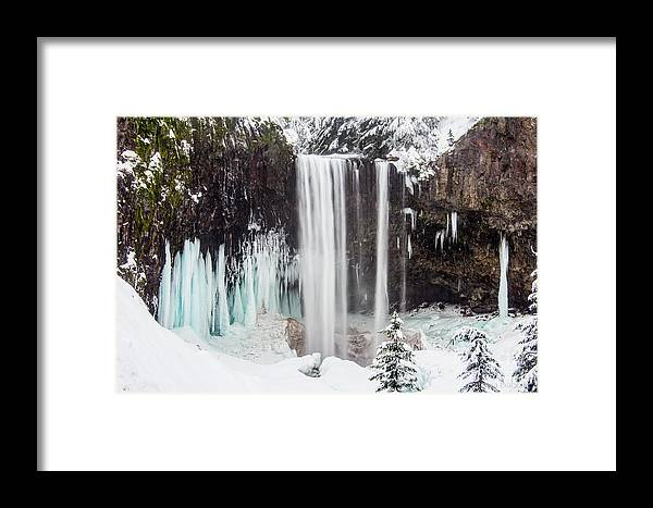 Mt. Hood Framed Print featuring the photograph Tamanawas Falls 2 by Patricia Babbitt