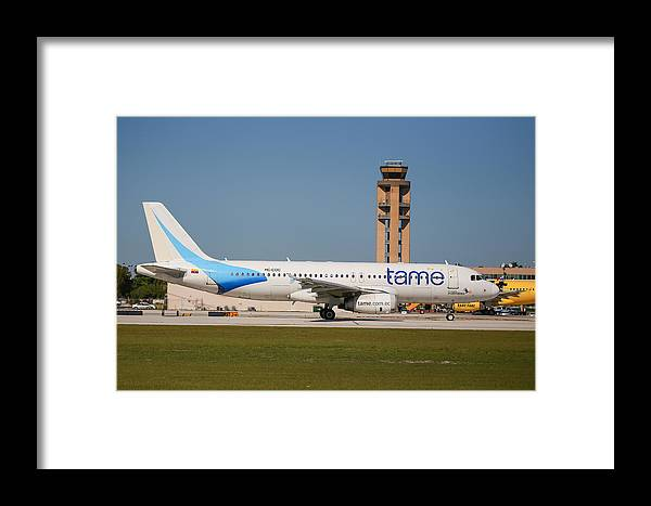 Tame Framed Print featuring the photograph Tame Airline by Dart and Suze Humeston