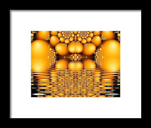 Tangerine Orange Water Sacred Tears Framed Print featuring the digital art Tangerine Tears by Veronica Jackson