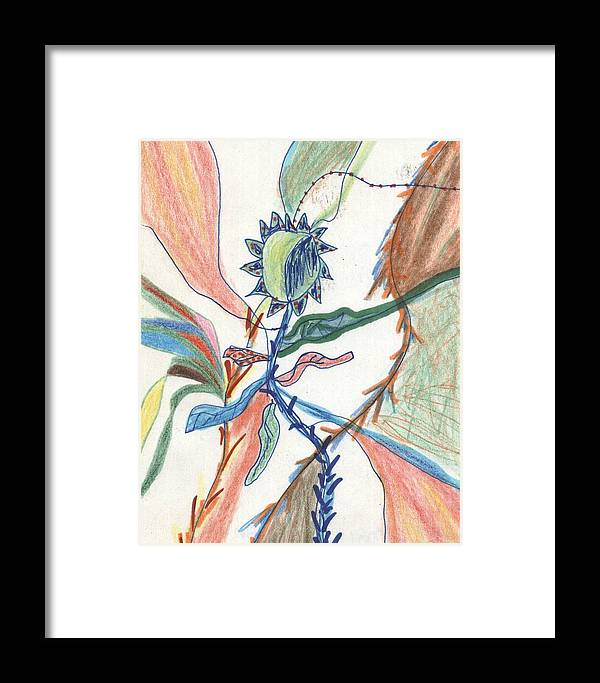 Tangle Framed Print featuring the drawing Tangle by David Jacobi
