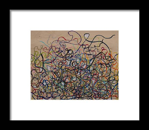 Squiggle Framed Print featuring the drawing Tangled by Jacob Stempky