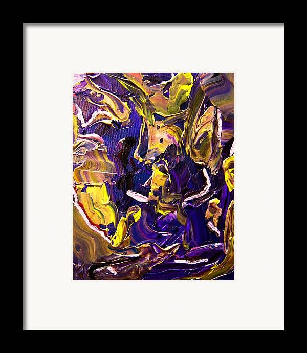 Torso Framed Print featuring the painting Tangled Torsos by Karen L Christophersen