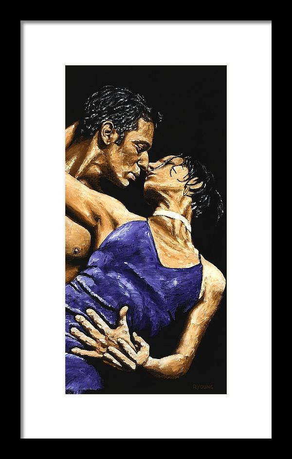 Couple Framed Print featuring the painting Tango Heat by Richard Young