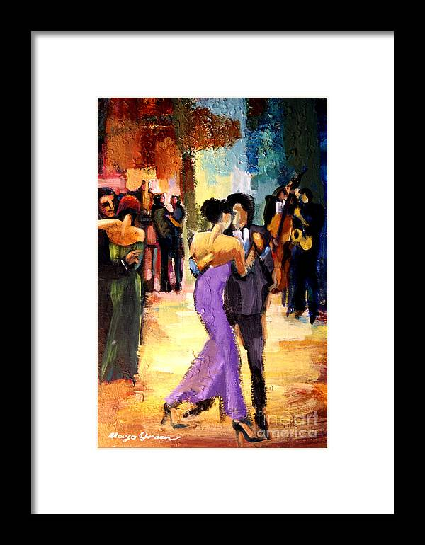 Artwork Framed Print featuring the painting Tango by Maya Green
