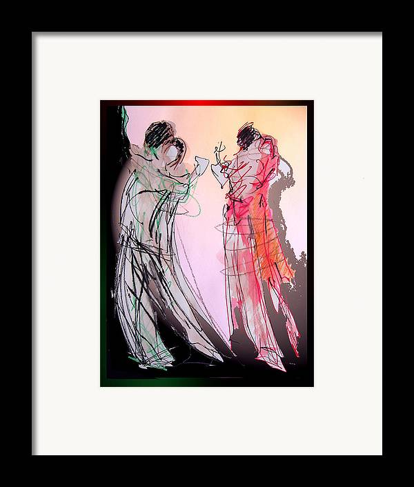 Argentine Tango Framed Print featuring the painting Tango Night by Olga Gernovski