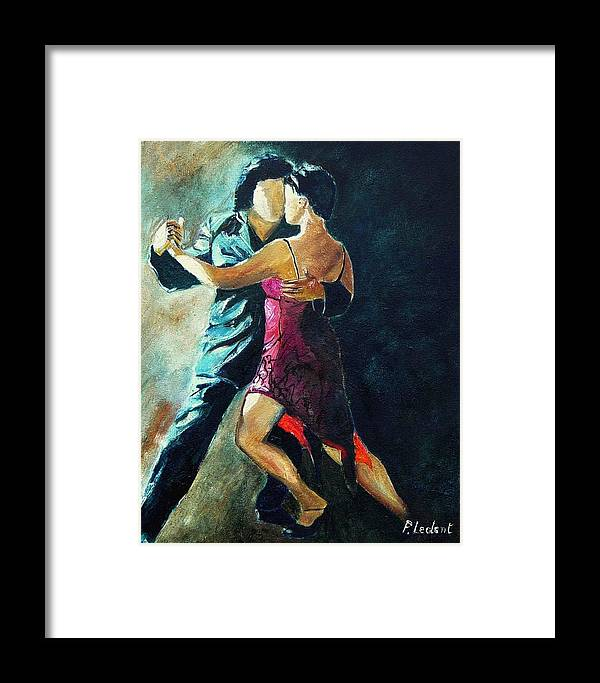 Tango Framed Print featuring the painting Tango by Pol Ledent