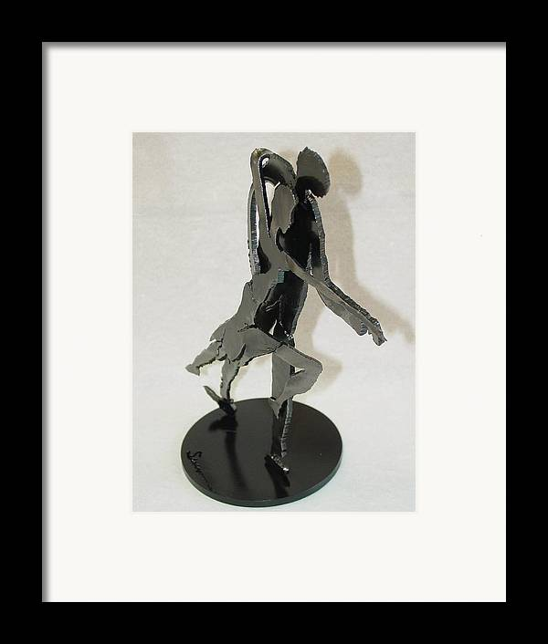 Steel Framed Print featuring the sculpture Tango Sold by Steve Mudge