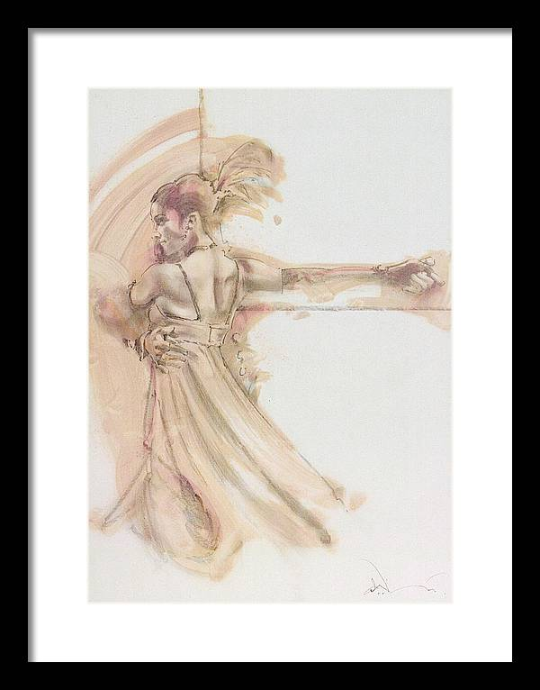 Dance Framed Print featuring the mixed media Tango Study 2 by Charles Willmott