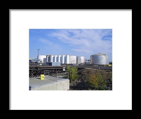 Nustar Framed Print featuring the photograph Tank Farm Nustar by Alan Espasandin