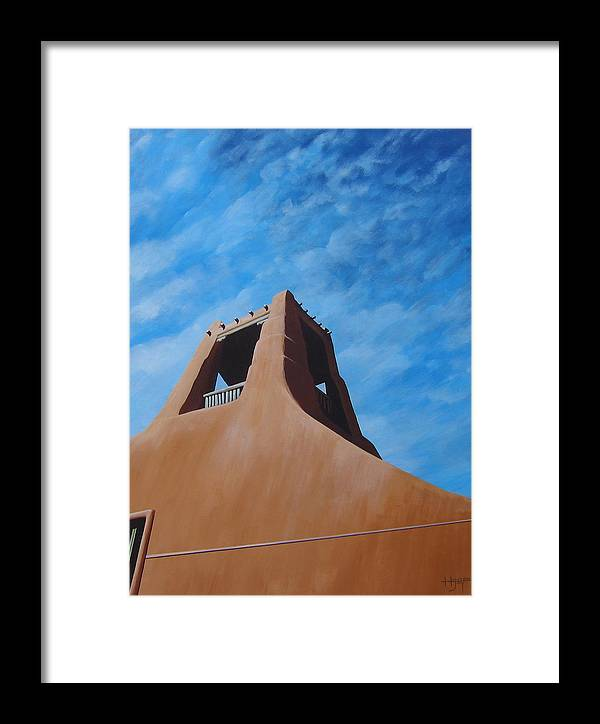 Taos Framed Print featuring the painting Taos Memory by Hunter Jay
