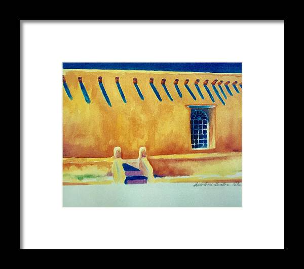Taos Noon Framed Print featuring the painting Taos Noon by Caroline Patrick
