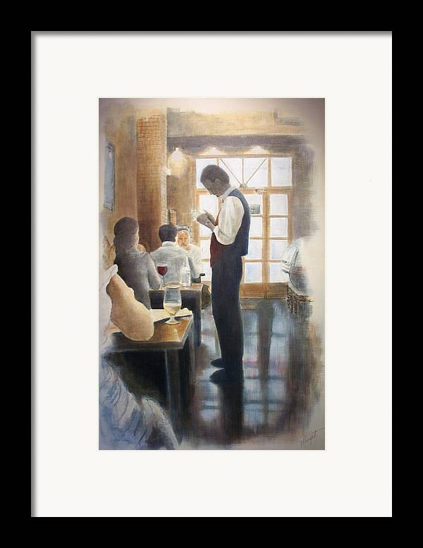 Restaurant Framed Print featuring the painting Tapas Bar by Victoria Heryet
