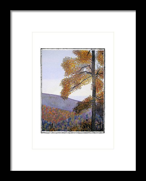 Landscape Framed Print featuring the painting Tapestree by Robert Boyette