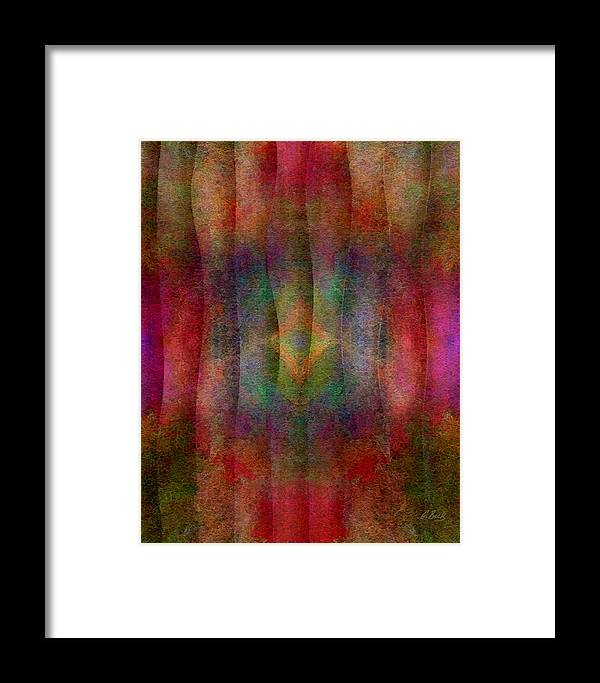 Contempoary Abstract Design Gordon Beck Art Framed Print featuring the mixed media Tapestry by Gordon Beck