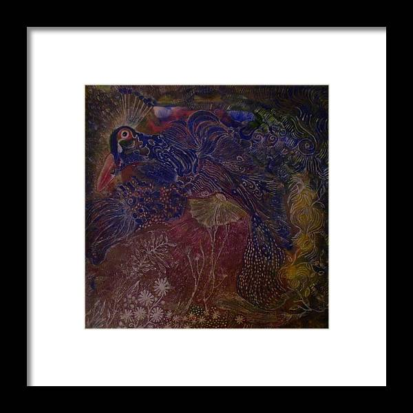 Abstract Framed Print featuring the painting Tapestry by Heather Hennick