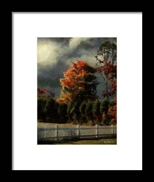 Landscape Framed Print featuring the painting Tapestry Of Clouds by RC DeWinter