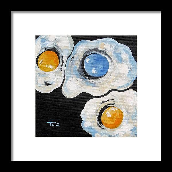 Egg Framed Print featuring the painting Tar Heel Born Tar Heel Bred V by Torrie Smiley