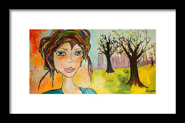 City Framed Print featuring the painting Tara by Courtney Adair Warren