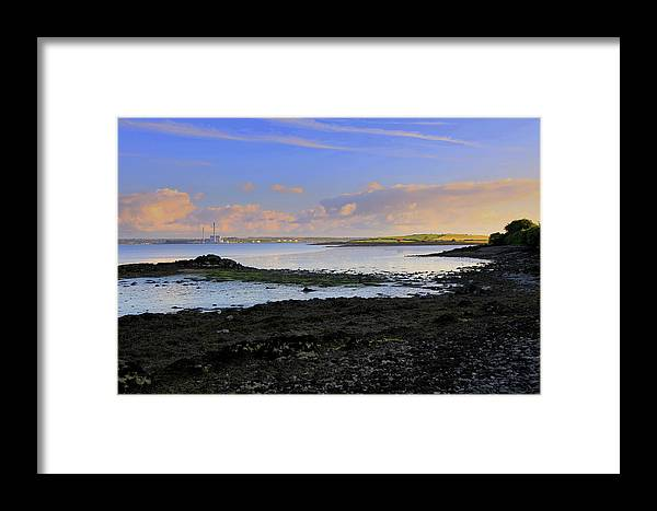 Landscape/clouds/sunset Framed Print featuring the photograph Tarbert Powerstation by Ann O Connell