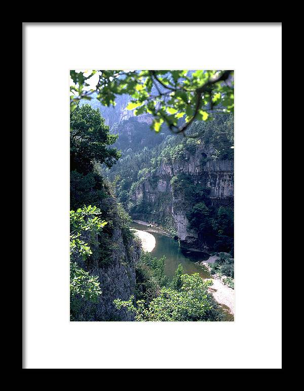 France Framed Print featuring the photograph Tarn by Flavia Westerwelle
