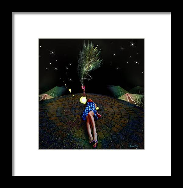 Framed Print featuring the digital art Tashia's Universe by Sharon Hendrickson
