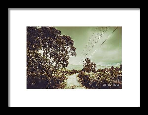 Australia Framed Print featuring the photograph Tasmania Country Roads by Jorgo Photography - Wall Art Gallery