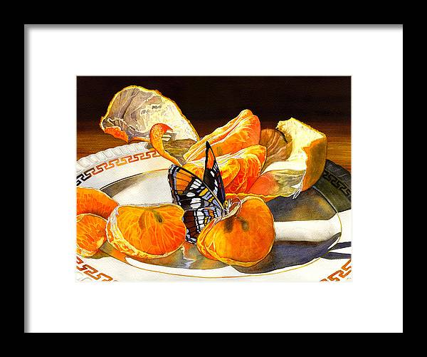Butterfly Framed Print featuring the painting Tasty by Catherine G McElroy