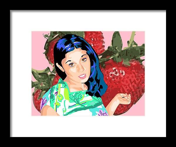 Berries Framed Print featuring the digital art Tasty by Sarah Crumpler