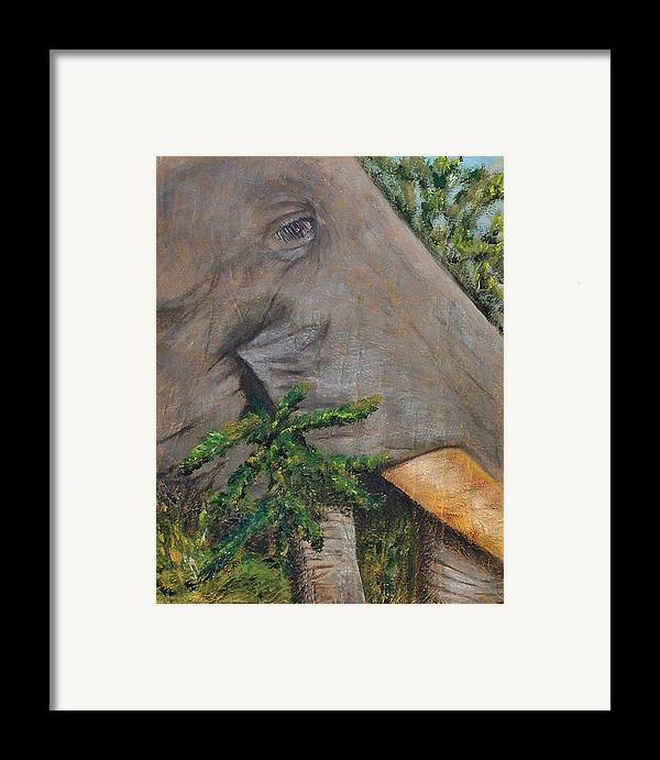Animal Framed Print featuring the painting Tasty Thistle by Merle Blair