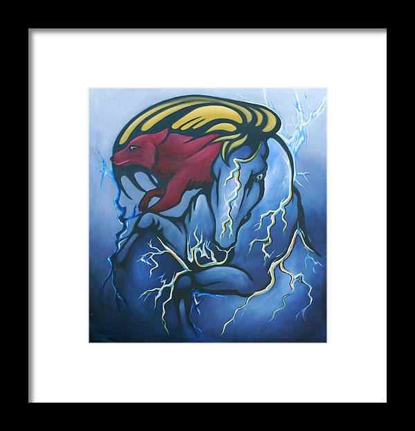 Horse Framed Print featuring the painting Tasunka Witko- Crazy Horse by Angelina Benson