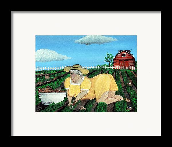 Granny Framed Print featuring the painting Taters Have Eyes by Sharon Supplee