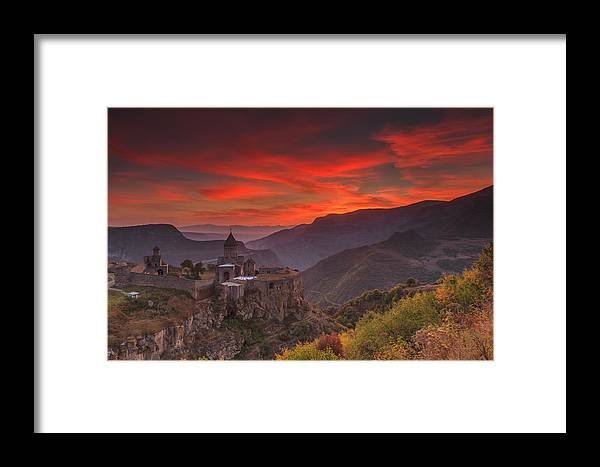 Armenia Framed Print featuring the photograph Tatev Monastery At Dawn by Anton Petrus