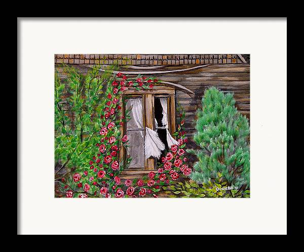 Curtains Framed Print featuring the painting Tattered Curtains by Quwatha Valentine