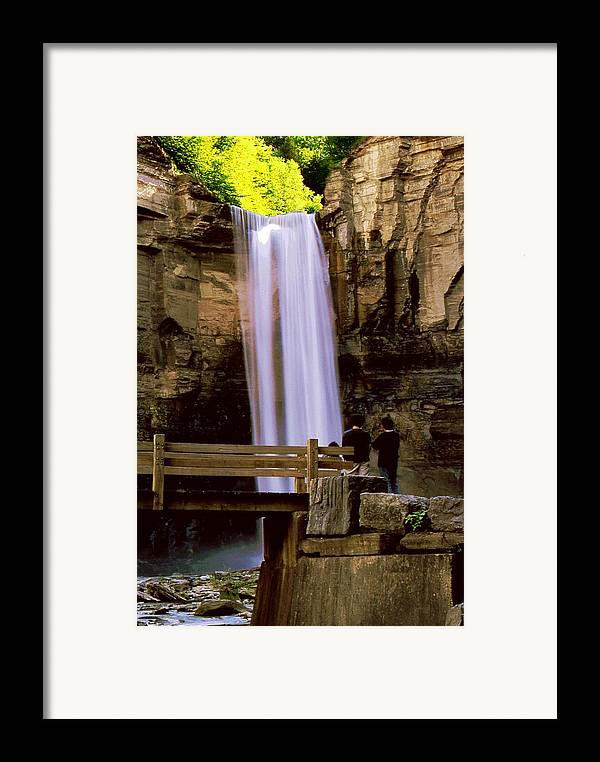 Waterfall Framed Print featuring the photograph Taughannock Falls by Roger Soule